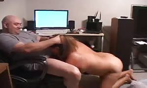lovely fat girl female is riding on his stiff pole in the master suite