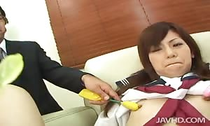 Two teachers treating her sphincter and slit exploiting