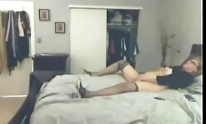 fortunate stud caught his old lady jacking off. has to see