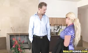 clothed blond