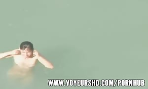 Spying a funny fuck in the water