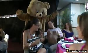 Amazing-looking stripper pounding thin stripped females
