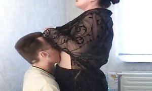 fattie Russian mother I'd desire to fuck is having a turned on sex with a slim guy