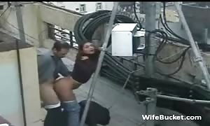 humorous sex on the roof