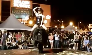 Sexiest funny underwear on mechanical bull shit shit