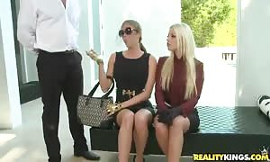 mouthwatering four way slamming with two remarkable blonds