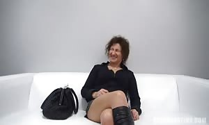 steamy mature mom I would want to have sex with being torn up in her face at the Czech audition
