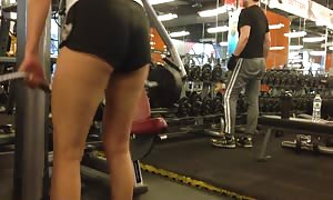 chinese girl Working Out in anus Shorts