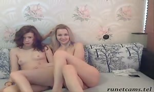 Two playful huge-boobed Russian bombshells are posing completely