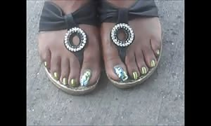 Tammy attractive Green Toenails