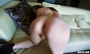 clean shaven g-spot of a delicious black-haired is torn up for her first amateur porn